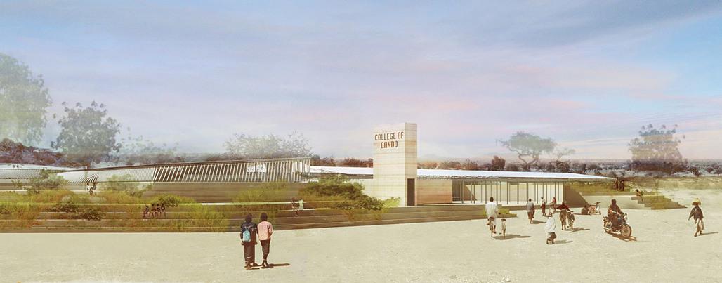 Global Holcim Awards 2012 Gold: Secondary school with passive ventilation system, Gando, Burkina Faso by Diébédo Francis Kéré, Kéré Architecture, Germany (Image © Holcim Foundation)