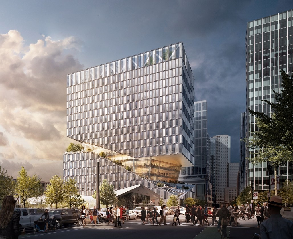 88 Seaport. © OMA, rendering by Bloom.
