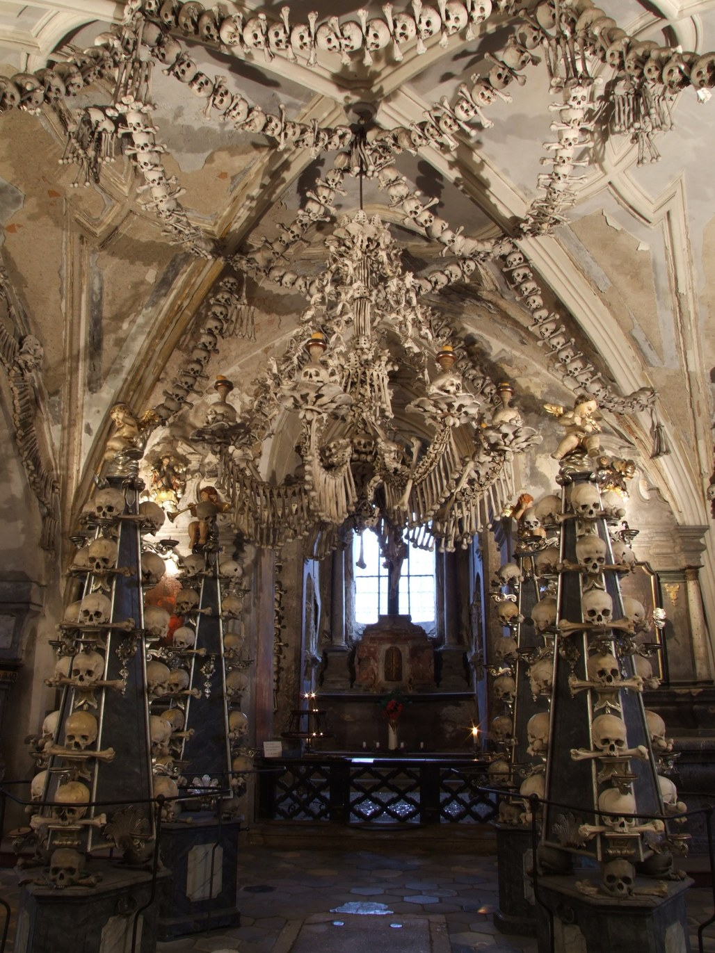 The Sedlec Ossuary in the Czech Republic. Image via wikipedia.org.