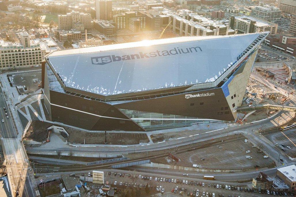 The under-construction Vikings stadium. Image via vikings.com.