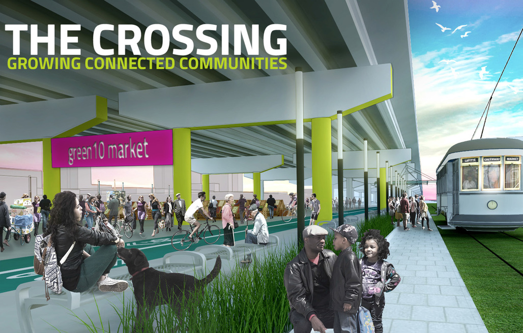 """The Crossing"" by the University of Maryland. Image courtesy of 2015 ULI/Hines competition"