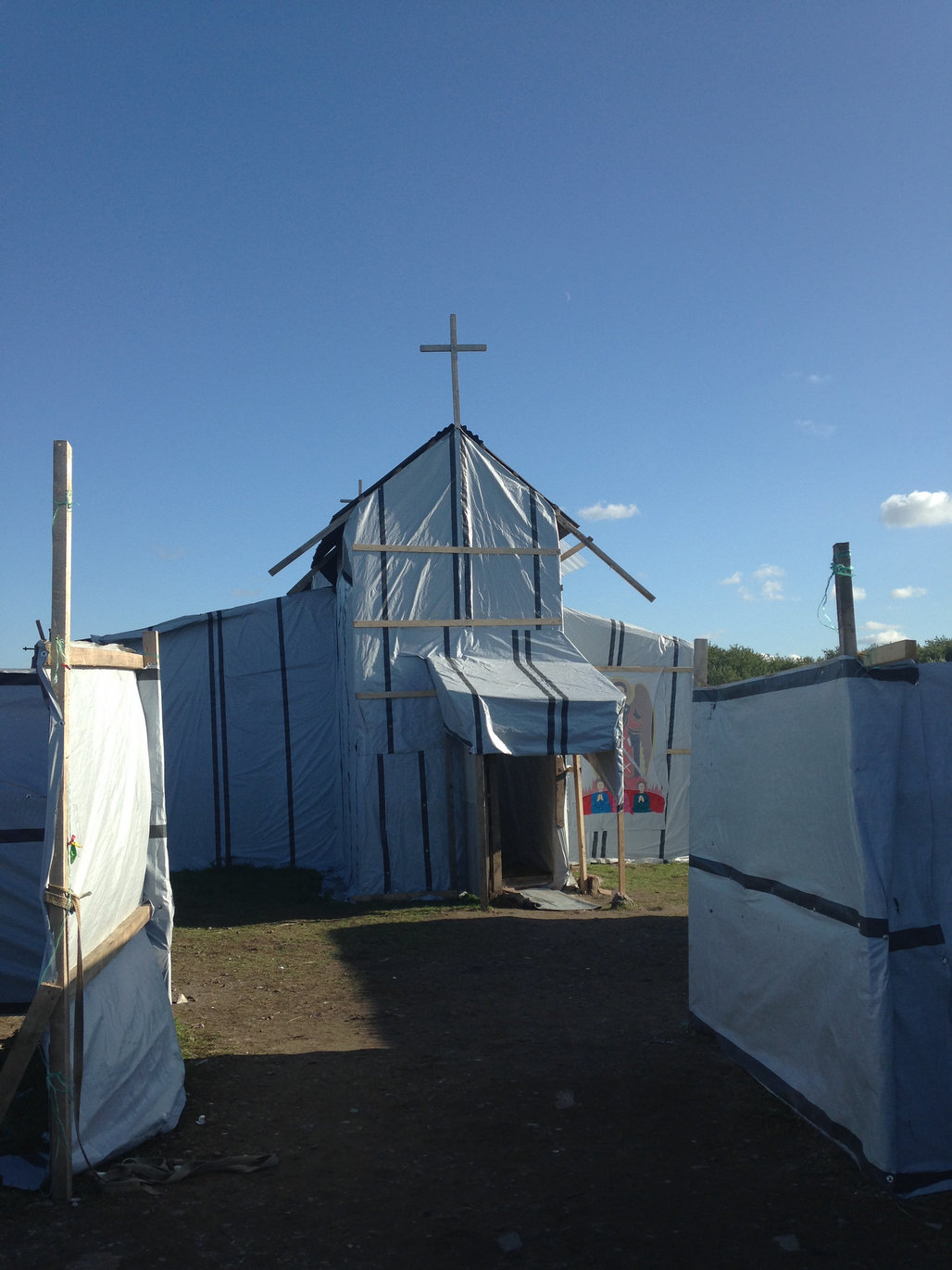 A church in the Calais camp. Photo: Global Justice Now via flickr