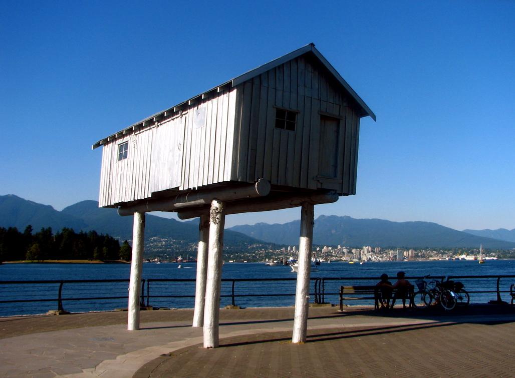 Architecture folly in Coal Harbour, BC, Canada. Image via Wikipedia.
