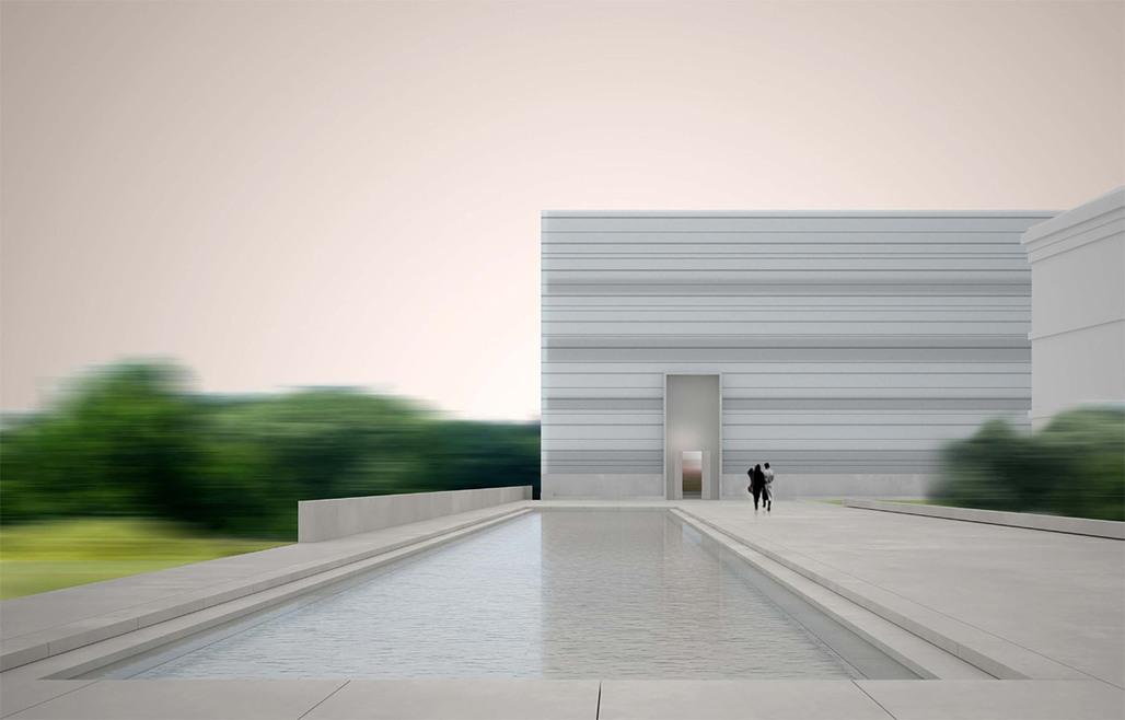 Rendering of the selected design for the New Bauhaus Museum in Weimar, Germany by Heike Hanada with Benedict Tonon (Image: Heike Hanada / Benedict Tonon)