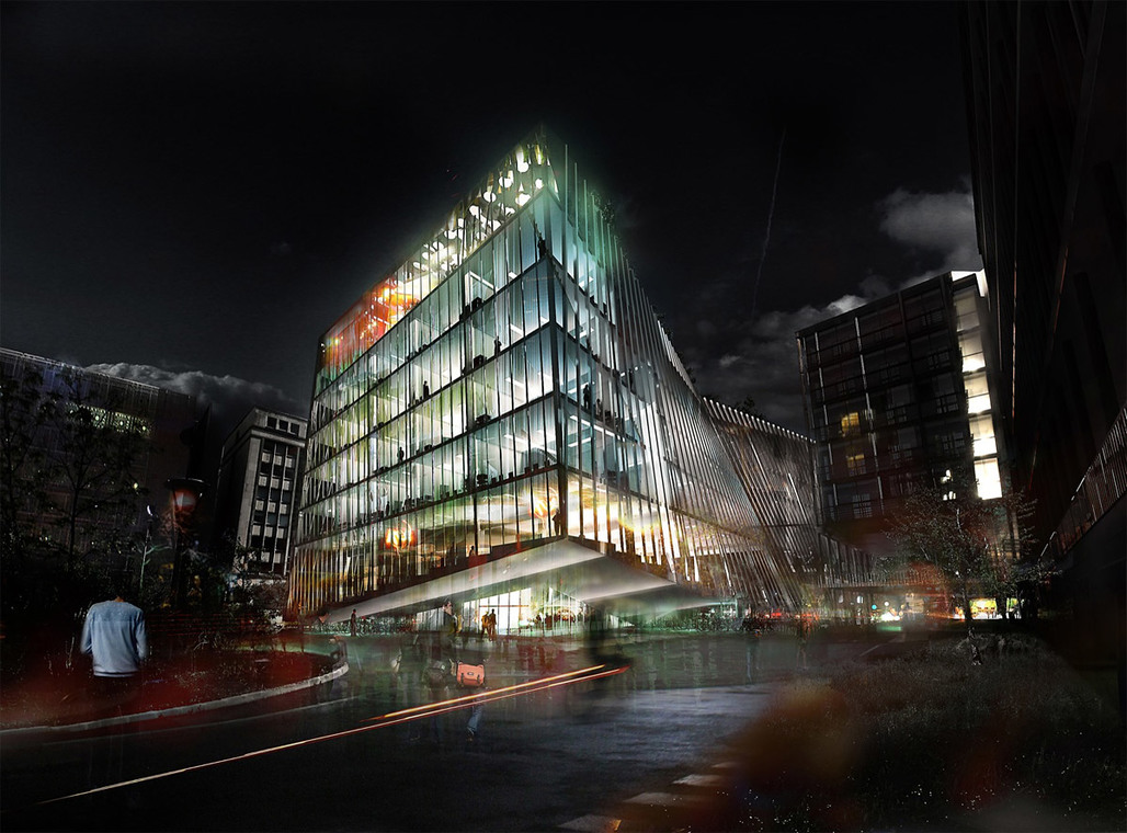 Visualization of the proposed University Research Center in Paris by BIG & OFF (Image: BIG + OFF)