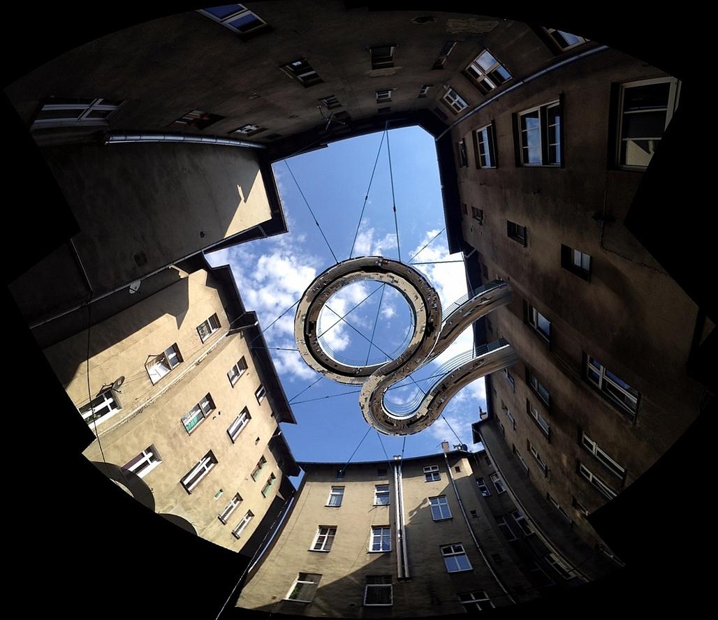 """""""Walk-On"""" balcony by Zalewski Architecture Group. Image courtesy of Zalewski Architecture Group."""