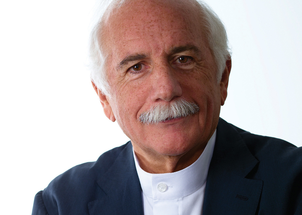Moshe Safdie: 2015 AIA Gold Medal recipient. Portrait by Stephen Kelly.