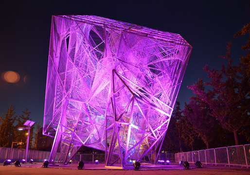 "Oyler Wu Collaborative's ""The Cube"" at the 2013 Beijing Biennale. Photo: Jason Wheeler."