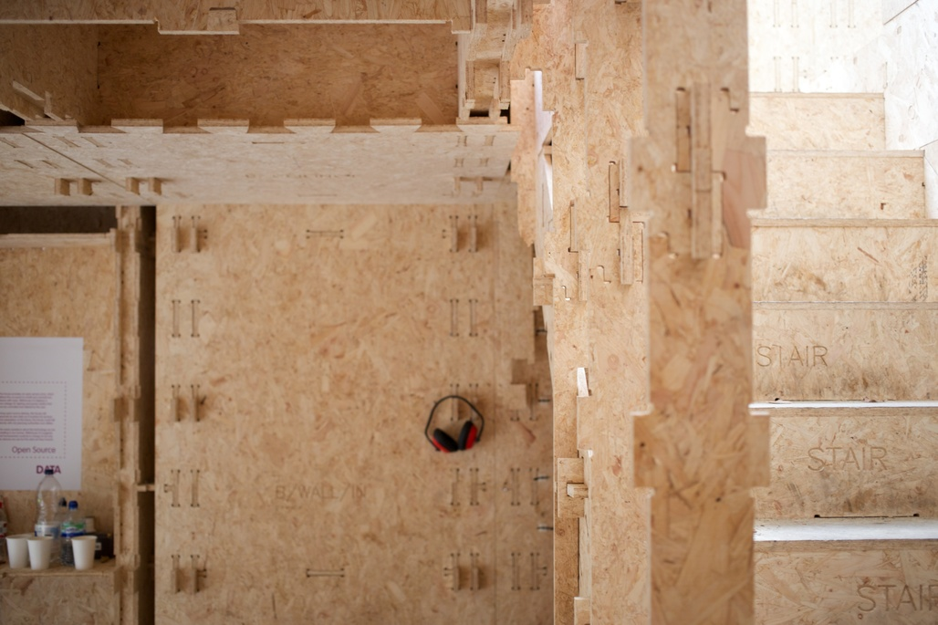 Construction detail of WikiHouse, the most popular open source building system (Photo: Lynton Pepper; Image via wikihouse.cc)