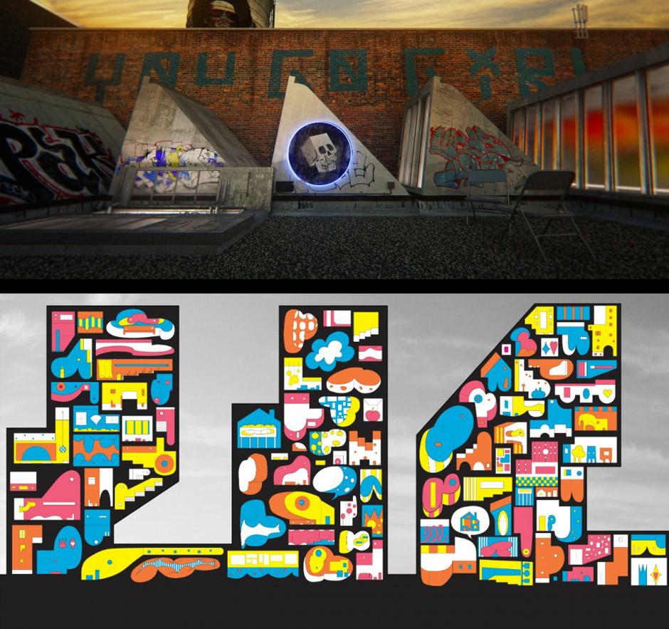 top: the SoHo Project (John Szot); bottom: Cartoonish Metropolis (Jimenez Lai)