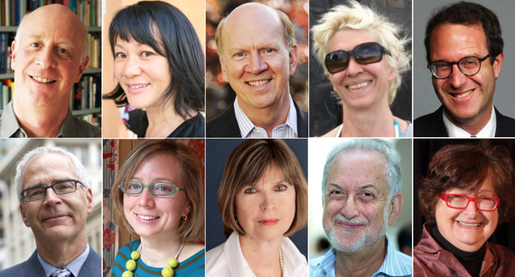 Top, L to R: Paul Goldberger, Cathy Lang Ho, Robert Ivy, Karrie Jacobs, Blair Kamin. Bottom, L to R: John King, Alexandra Lange, Cathleen McGuigan, Michael Sorkin, Susan Szenasy. Image via huffingtonpost.com