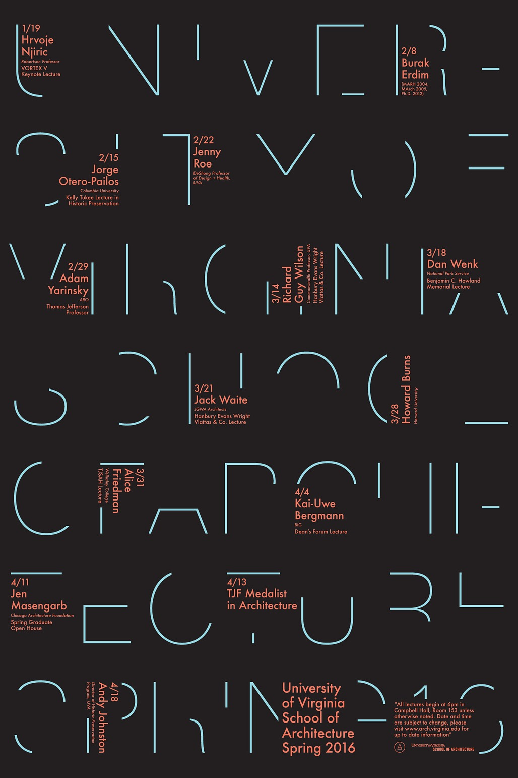 Poster courtesy of the University of Virginia, School of Architecture.