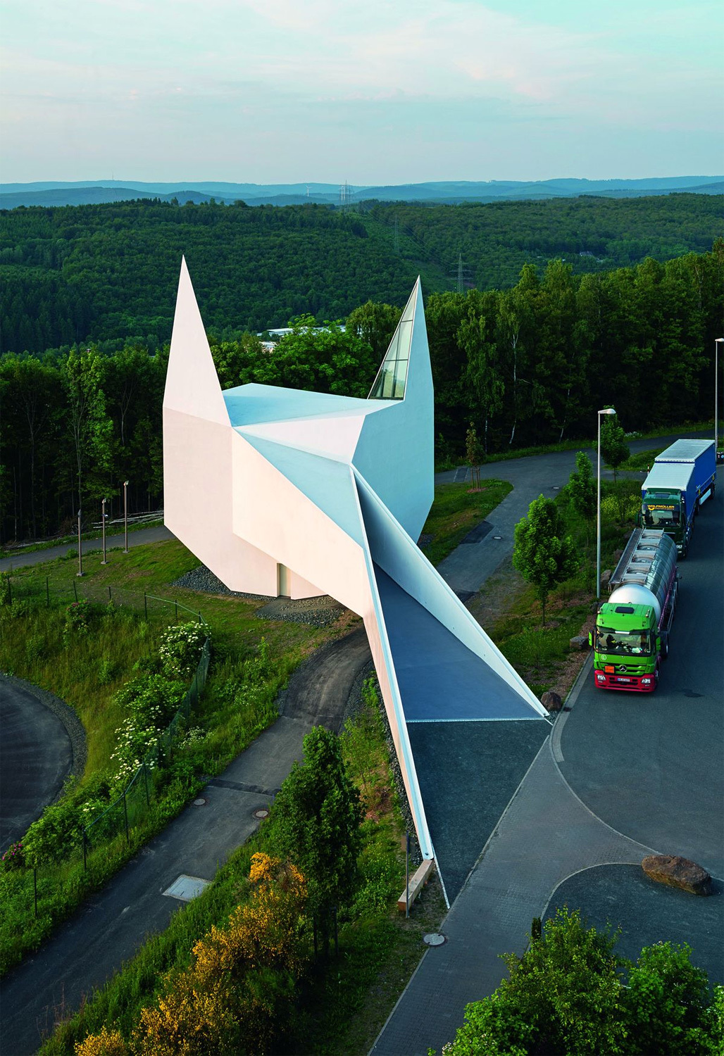 Motorway Church in Siegerland, Germany by Michael Schumann; wood supplier: EGGER Wood-based materials