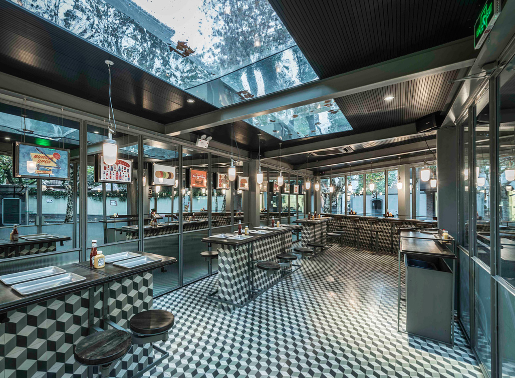Bars & Restaurants: Neri&Hu Design and Research Office, Rachel's Burger, Shanghai, China.