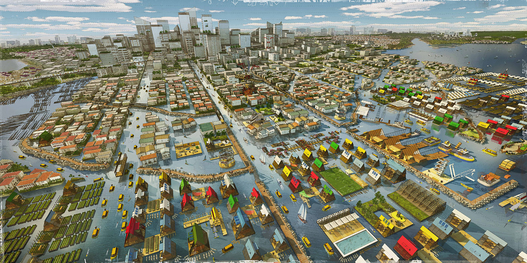 "LAGOS proposal for MoMA's ""Uneven Growth: Tactical Urbanisms for Expanding Megacities"" initiative. Credit: NLÉ + Zoohaus/Inteligencias Colectivas"