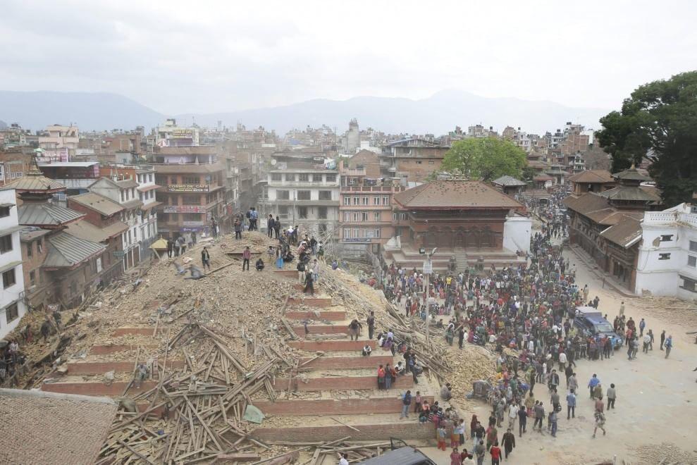 The immediate aftermath of the April 25, 2015 quake. Photo: Domenico via flickr.com