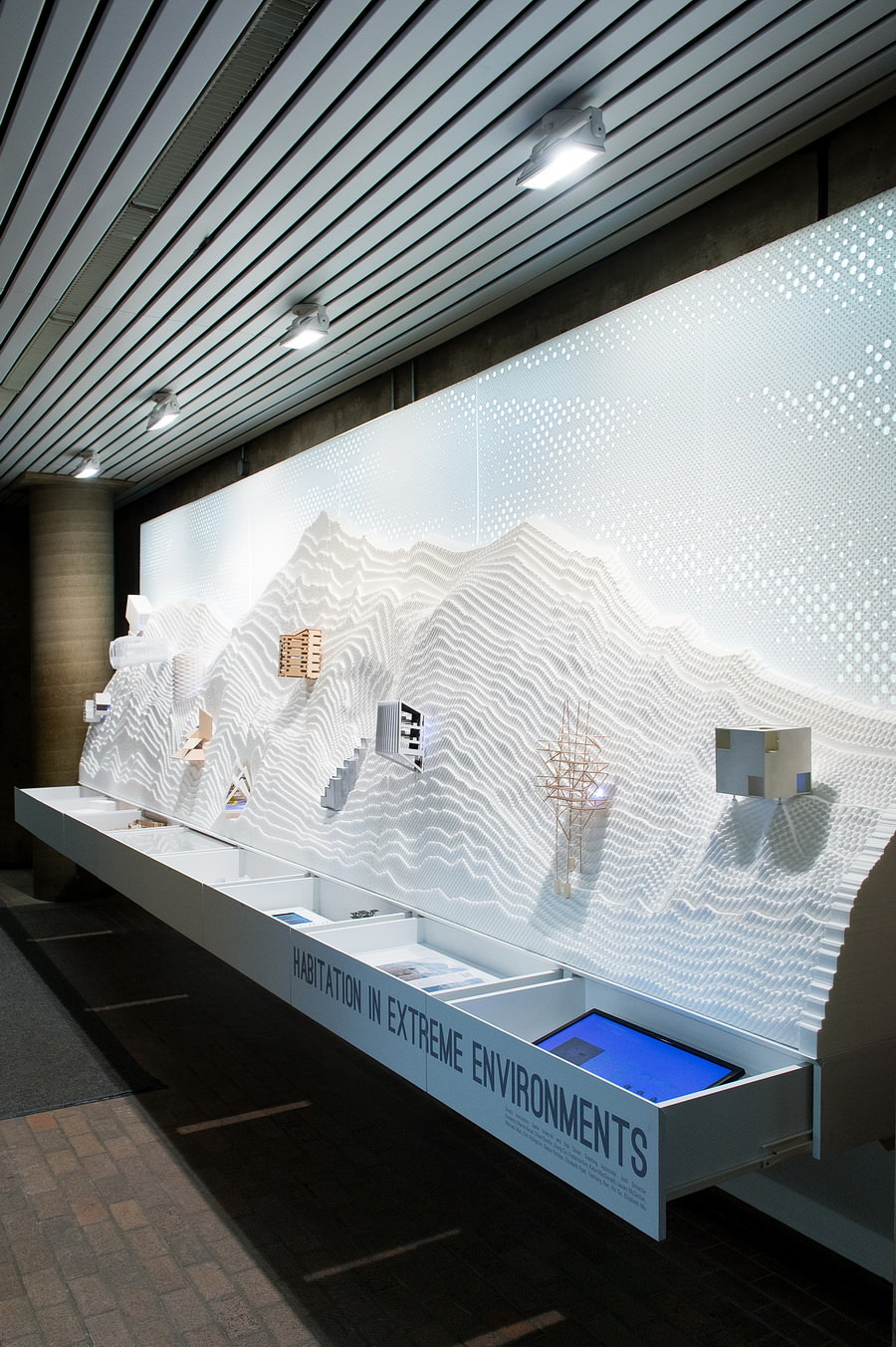 """""""Habitation in Extreme Environments: Alpine Shelter"""" at the Harvard Graduate School of Design. Photo credit: Harvard GSD, photography courtesy Justin Knight"""