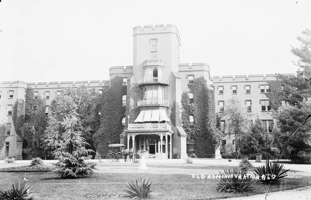The Center Building at St. Elizabeths, pictured circa 1900. Image courtesy of National Building Museum