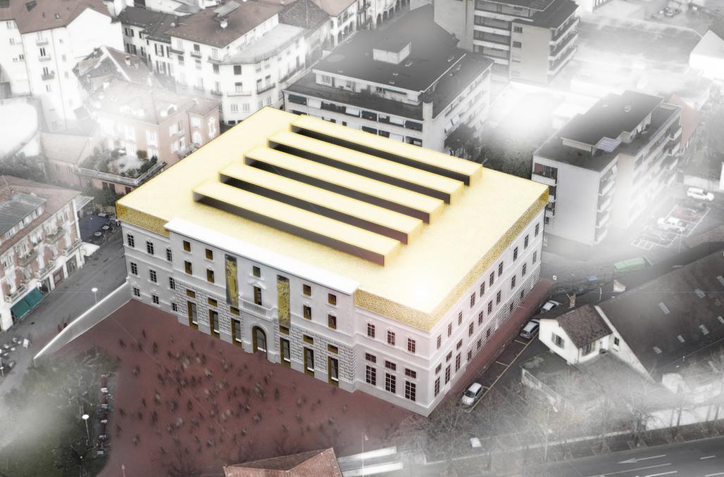 """Rendering of the winning design """"Palazzo del Cinema di Locarno"""" (Image: Alejandro Zaera-Polo Architecture)"""