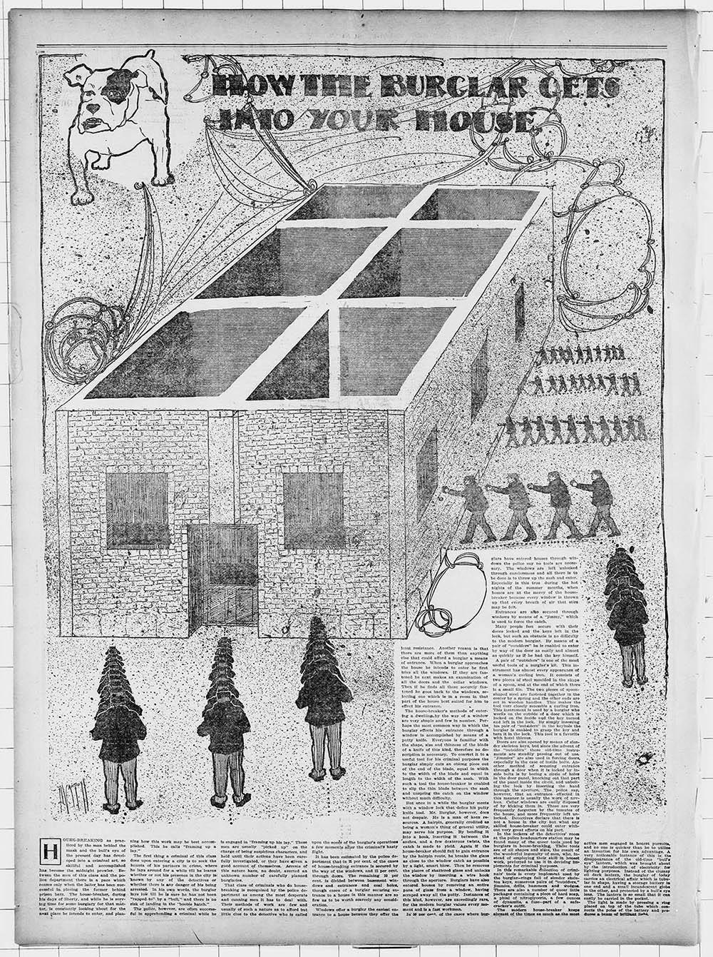 """How The Burglar Gets Into Your House"" (1903), via BLDGBLOG"