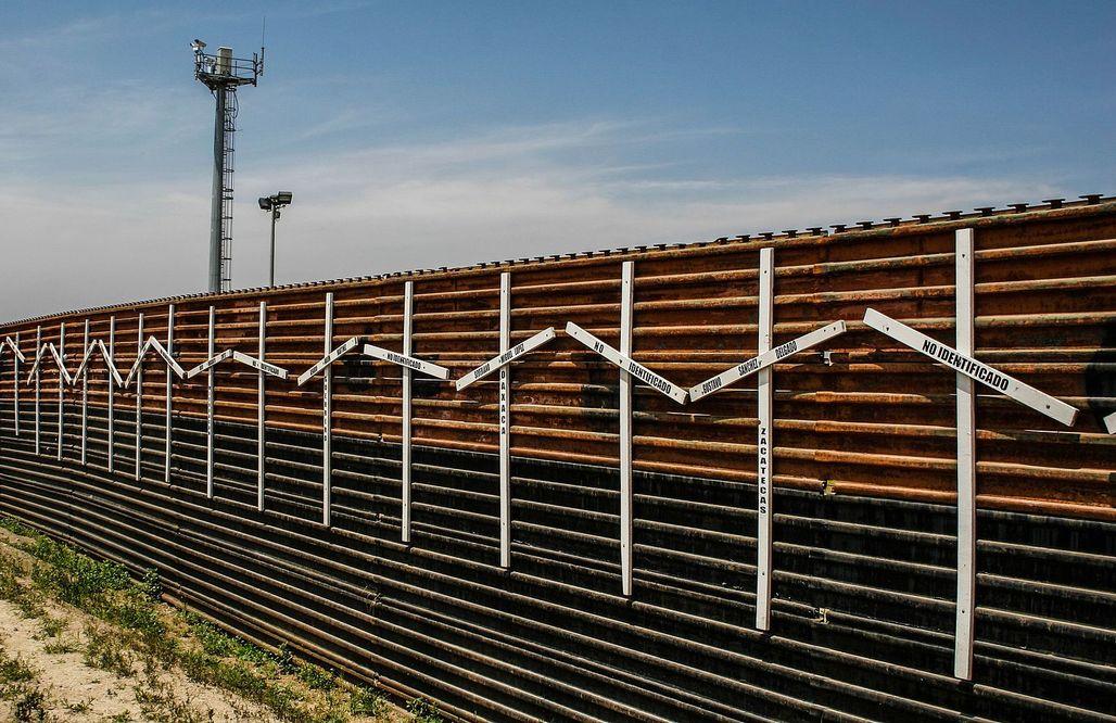 Border wall at Tijuana and San Diego border Image via wikimedia