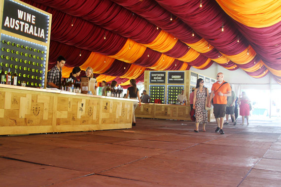 The wine tent was designed to retain 360-degree views of the park. (Photo: Erin Goldberger)