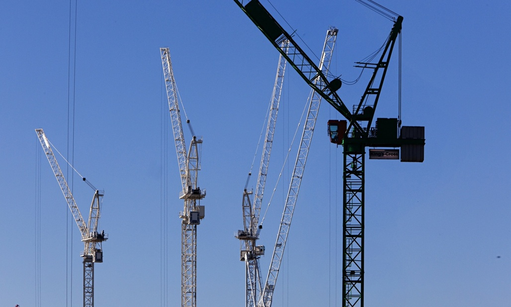 Construction cranes are becoming a common sight around U.K. universities. Photograph: Graham Turner for the Guardian, via theguardian.com