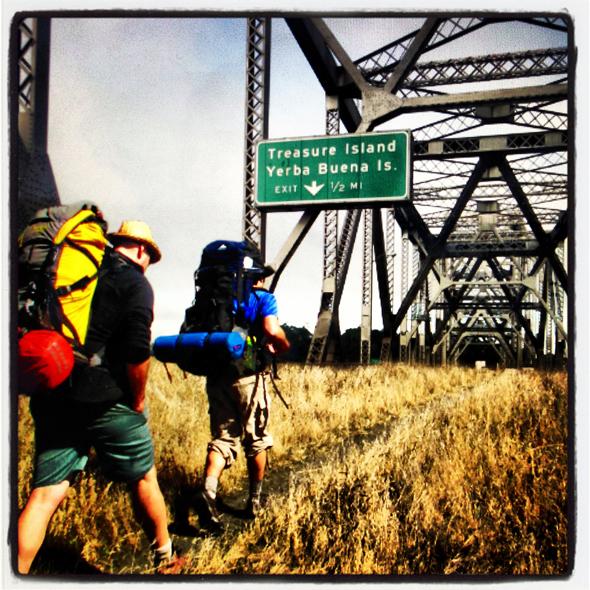 #hiking via reThink Bay Bridge