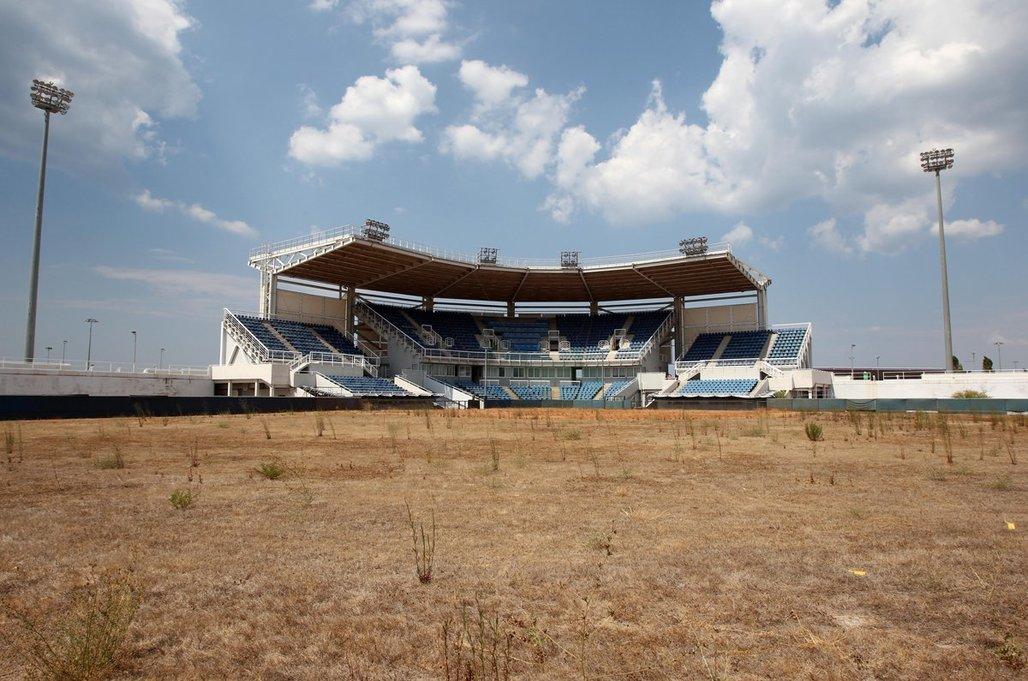 The 2004 Olympic softball stadium in Athens. (AP)