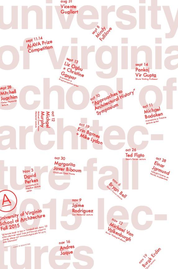 Poster courtesy of the U.Va School of Architecture.