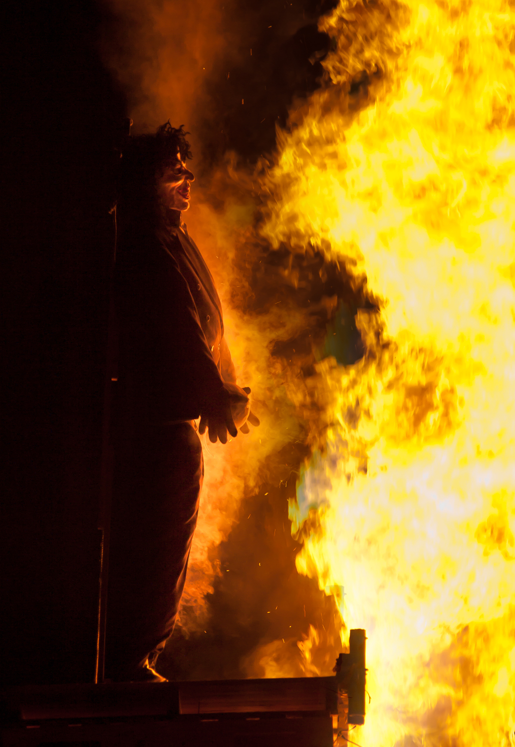 Guy Fawkes effigy (photo by William Warby via Flickr)
