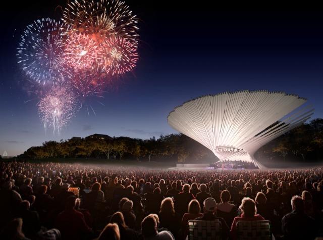 proposed design for Sylvan Theater by Michael Maltzan Architecture + Tom Leader Studio