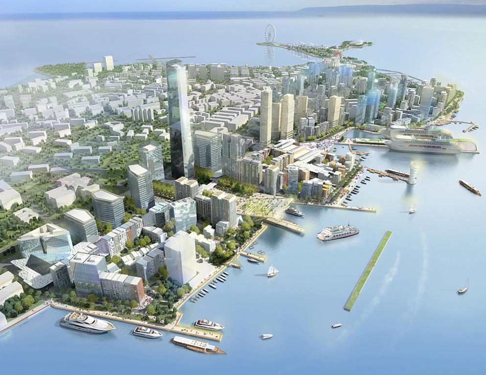 Urban Design Honor Award Winner: Qingdao Harborfront in Qingdao, Shangdong, China by EE&K a Perkins Eastman Company (Image Credit: EE&K a Perkins Eastman company)
