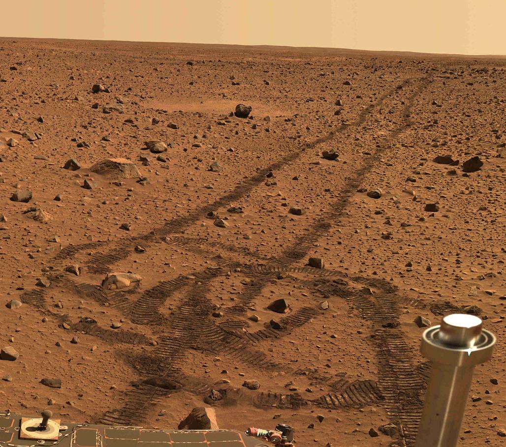 Concrete mixer? A shot from the Mars Rover (via Wikipedia)