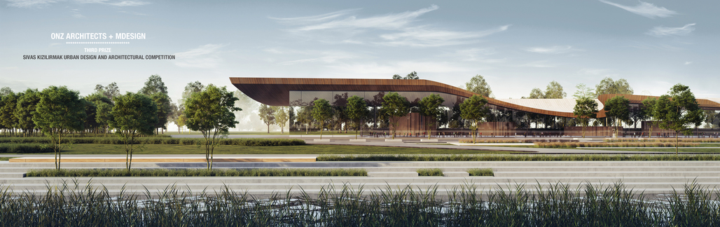 ONZ Architecs + Mdesign won the 3rd Prize in Kızılırmak River Bank Development Competition