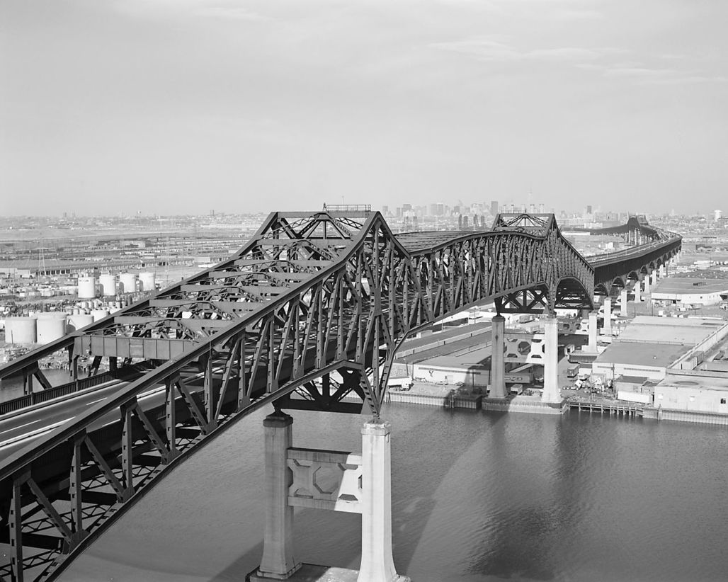 """Even after pouring billions of dollars into the rehabilitation of New Jersey's crumbling Pulaski Skyway, the 82-year-old structure will remain """"functionally obsolete,"""" unsafe to carry the trucks that fuel this industrial megaregion. (Image via Wikipedia)"""