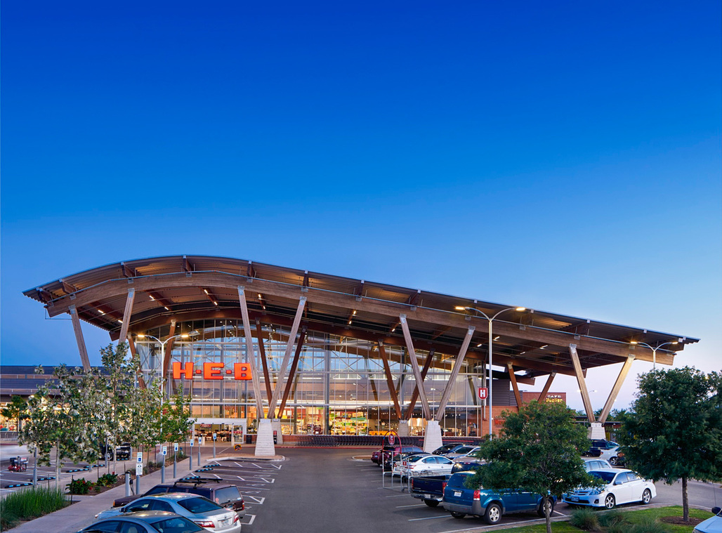 "H-E-B at Mueller; Austin, TX by Lake|Flato Architects, H-E-B Design + Construction, Selser Schaefer Architects, a <a href=""http://archinect.com/news/article/149941958/see-the-newly-revealed-2016-aia-cote-top-ten-green-projects"">2016 AIA COTE Top Ten Green Project</a>. Photo: Mark Gaynor."