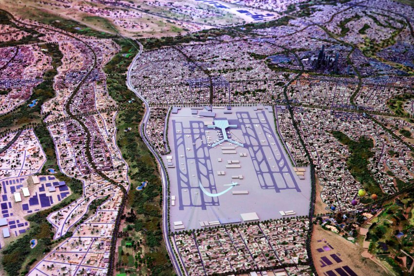 """A model of Egypt's collosally ambitious """"New Capital"""" project. (Image via spiegel.de)"""