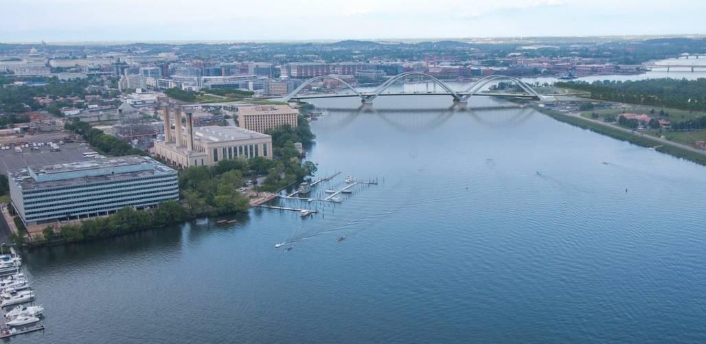 Mayor Muriel E. Bowser on Thursday unveiled the design of the new Frederick Douglass Memorial Bridge. (DDOT)