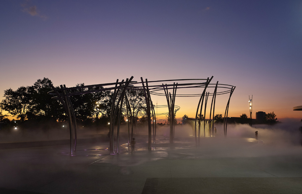 Scio to Mile Bicentennial Park, Columbus, Ohio by MKSK. © Brad Feinknopf