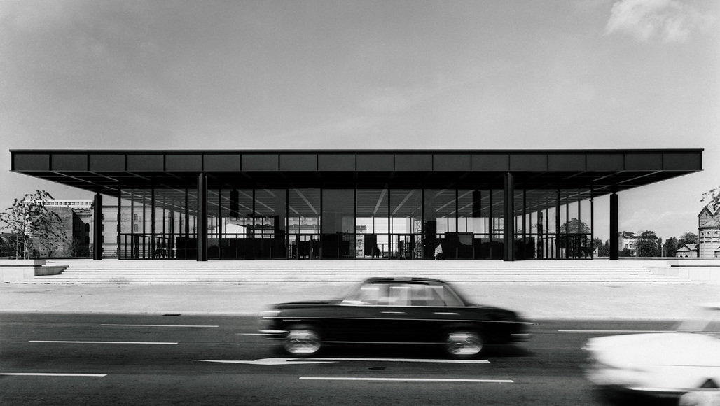 Preparing for a five-year makeover: the Mies van der Rohe-designed Neue Nationalgalerie in Berlin, 1968. © Archive Neue Nationalgalerie, Nationalgalerie, Staatliche Museen zu Berlin, Photo: Reinhard Friedrich