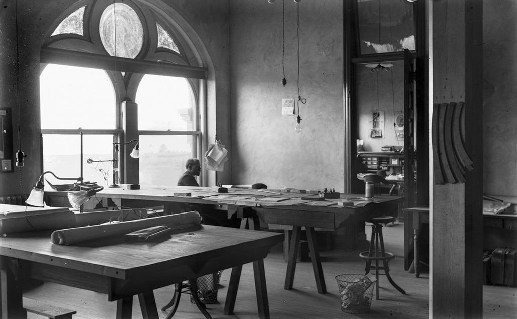 #1106 Drafting Room G.&S.I. RR Office 1/29/1905