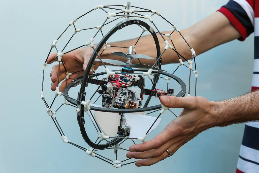 Flyability's Gimball is the world's first collision-tolerating drone. Photo via Flyability Facebook page.
