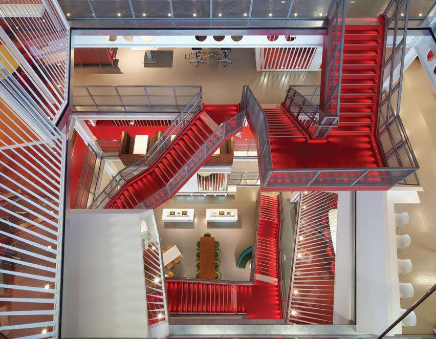 Ropemaker Place, London for Macquarie Bank by Clive Wilkinson Architects. Photo © Riddle Stagg Photographers