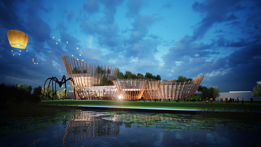 Entry to the Taichung City Cultural Center competition by Maxthreads Architectural Design and Planning (Image: Maxthreads)