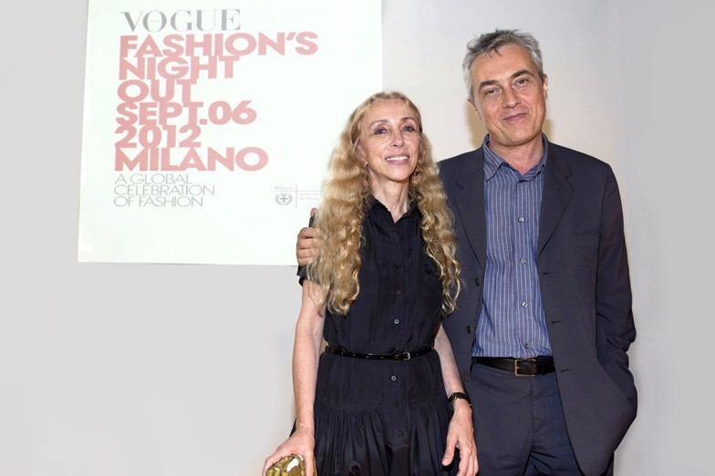 Franca Sozzani and Stefano Boeri at the press conference for Vogue Fashion's Night Out in Milan, via vogue.it