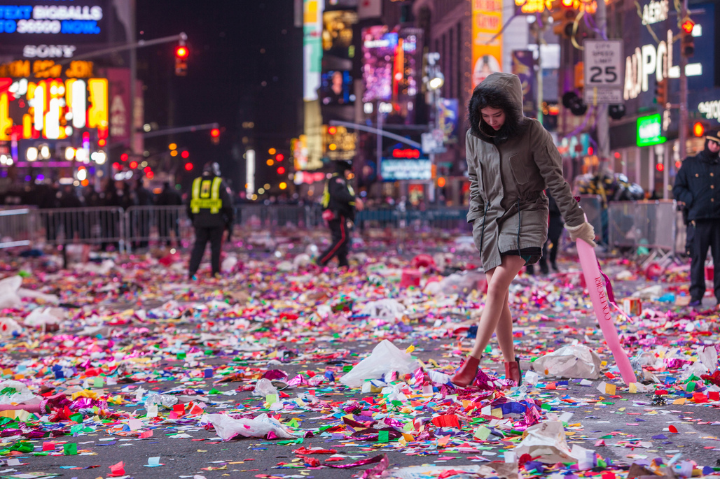 Mmm...the waft of post-New Years Eve in Times Square. Image: Anthony Quintaro via flickr