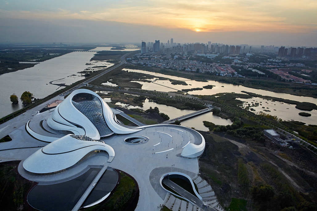Aerial view of the MAD-designed Harbin Opera House. Photo: Hufton + Crow.