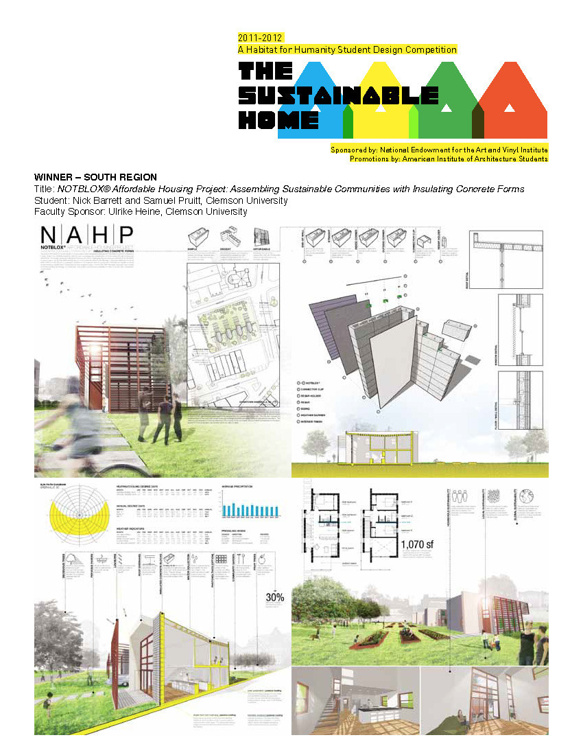 Clemson Graduate Students Nick Barrett And Sam Pruitt Won The Prize For The  South Region In The Habitat For Humanityu0027s Sustainable Home Design  Competition ...