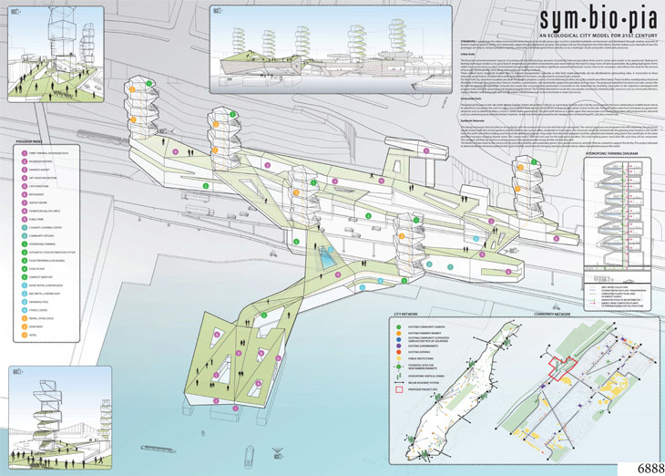 ENYA Prize: Sym'bio'pia by Ting Chin and Yan Wang, Linearscape Architecture, New York, NY